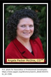 IGHR Intermediate Genealogy Course Coordinator Angela Packer McGhie