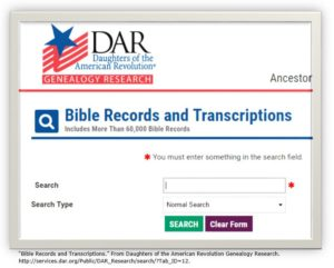 DAR Bible Records