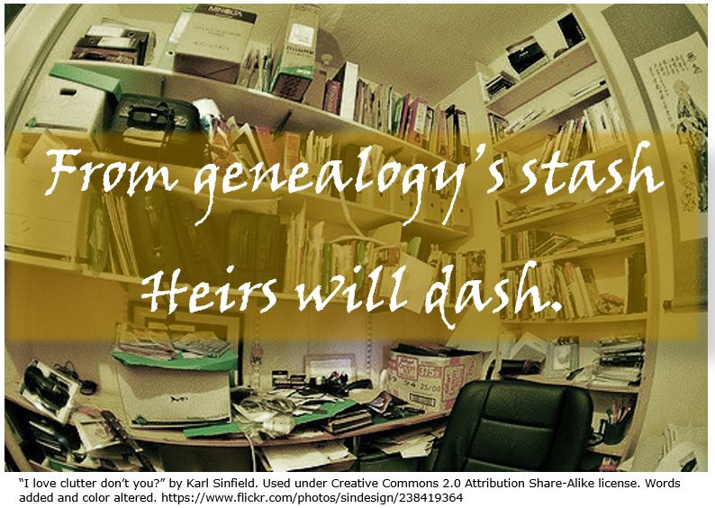 From genealogys stash heirs will dash