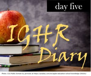 IGHR Diary Day 5