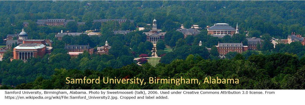 Samford University, Birmingham, Alabama, site of IGHR genealogy course