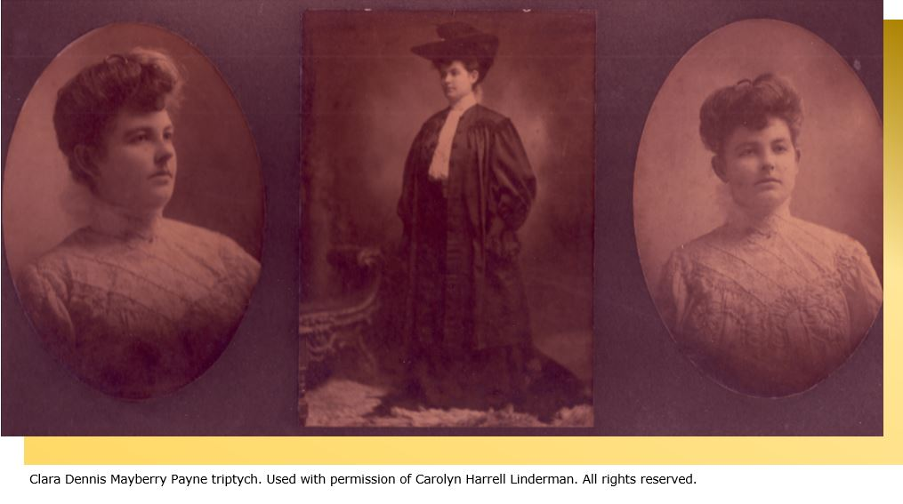 Photo Context subject Clara Dennis Mayberry Payne Triptych