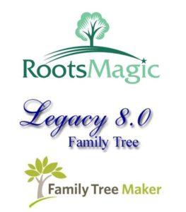 Genealogy Desktop Software Dilemma--Product Logos
