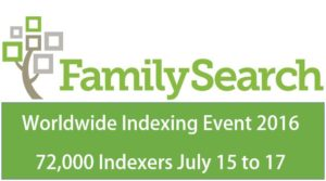 FamilySearch Indexing Worldwide Event 2016