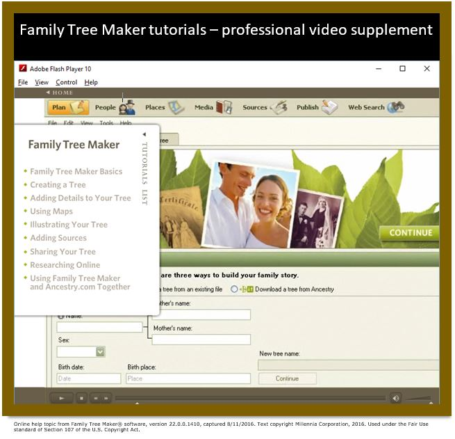 Family Tree Maker Tutorial