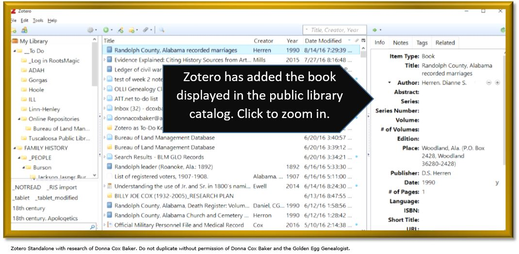 Zotero for genealogy_extracted library record