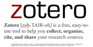Zotero for genealogy