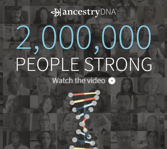 AncestryDNA hits 2 million marker
