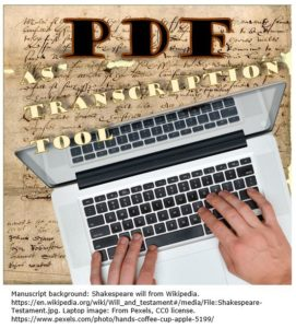 PDF as Transcription Tool