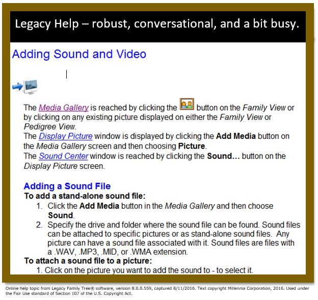 Getting help from genealogy software: rating the