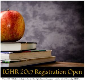 IGHR 2017 Registration Open